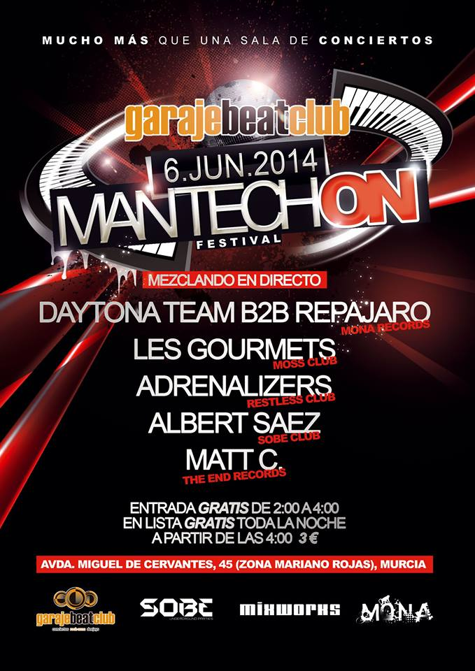 flyers mantechon garage beat murcia monarecords