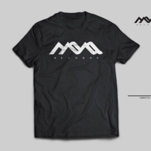 camiseta techno, mona records, blanco y negro