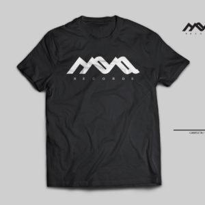 camiseta techno, mona records, blanco y negro